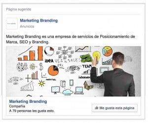publicidad facebook, facebook fanpage, pagina facebook, marketing branding
