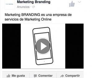 anuncios facebook, promocion de videos, marketing branding