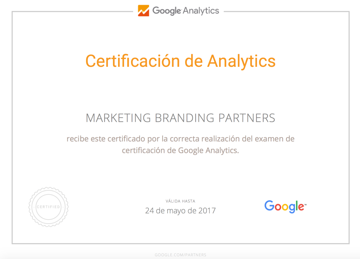 certificado google analytics, examen google analytics, google analytics chile