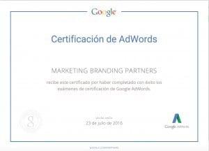 Certificacion de Adwords, Marketing Branding, servicios google adwords