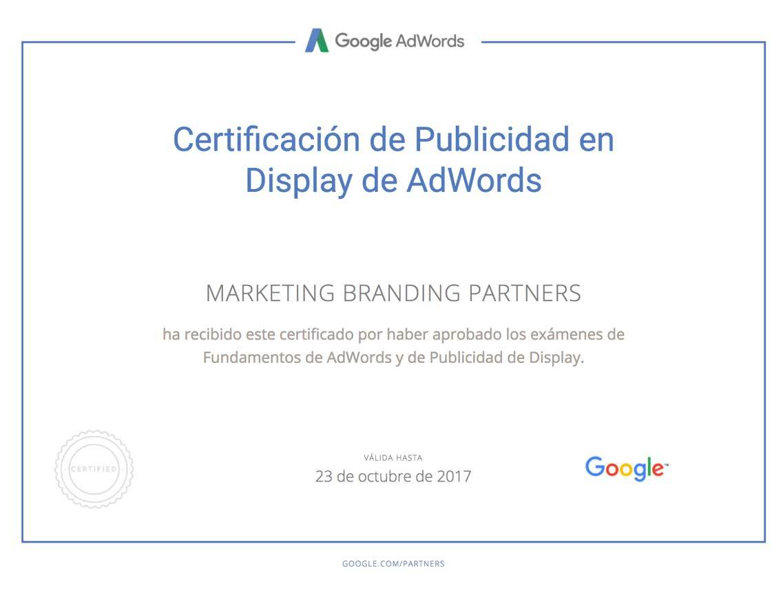 certificado google adwords red display, google partners
