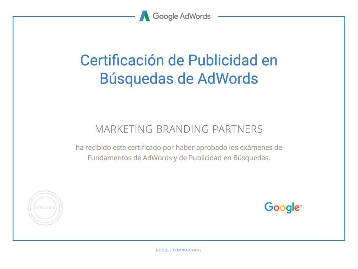 certificacion examen google adwords, examen google adwords