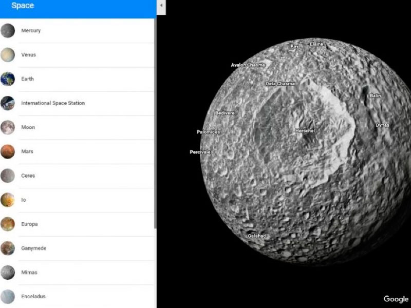 google sistema solar, google planetas